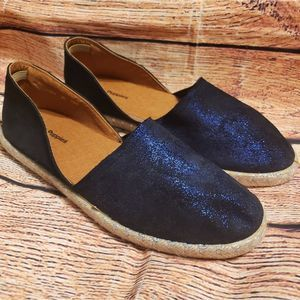 Hush Puppies Blue Metallic D'orsay Espadrille